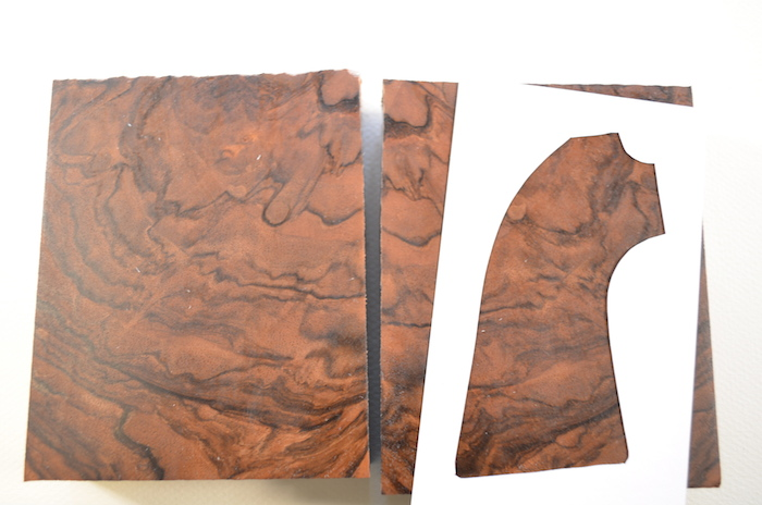 (5) Medium brown color with abstract streaking